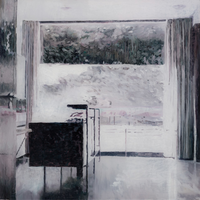 Gil Heitor Cortesāo White Room, 2017 Oil on plexiglas 72 x 72 cm 28 3/8 x 28 3/8 in