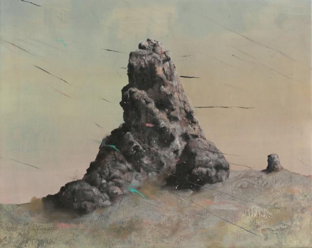 Philip Mueller  Nisyros Krater 2017, 2017  Oil on canvas  40 x 50 cm  15 3/4 x 19 3/4 in