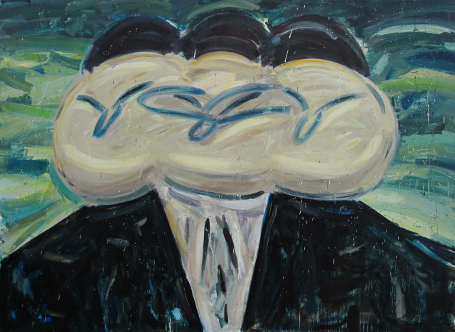 Amir Khojasteh Three Holy Heads #4, 2019 Oil on canvas 196 x 145 cm 77 1/8 x 57 1/8 in