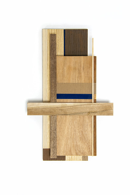 Sarah Almehairi  Building Blocks #6 (Series 1), 2019  Acrylic on wood  35 x 22.2 x 4.9 cm  13 3/4 x 8 3/4 x 1 7/8 in