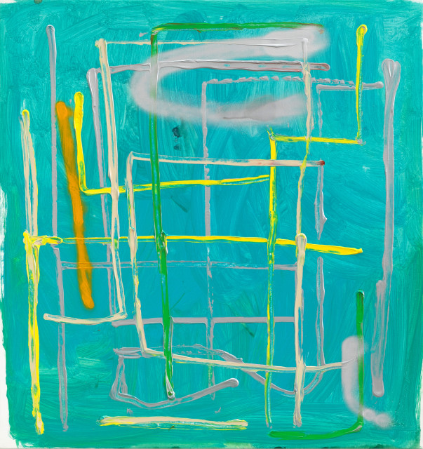 André Butzer Untitled, 2019 Oil on canvas 88 x 83 cm 34 5/8 x 32 5/8 in
