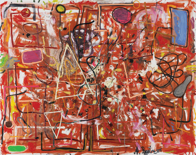 André Butzer  Untitled (602), 2008  Oil on canvas  200 x 250 cm  78 3/4 x 98 3/8 in