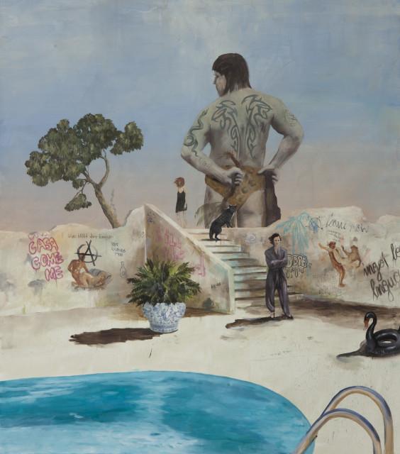 Philip Mueller Tibe Expositur Pompeii, 2019 Oil on canvas 180 x 160 cm 70 7/8 x 63 in