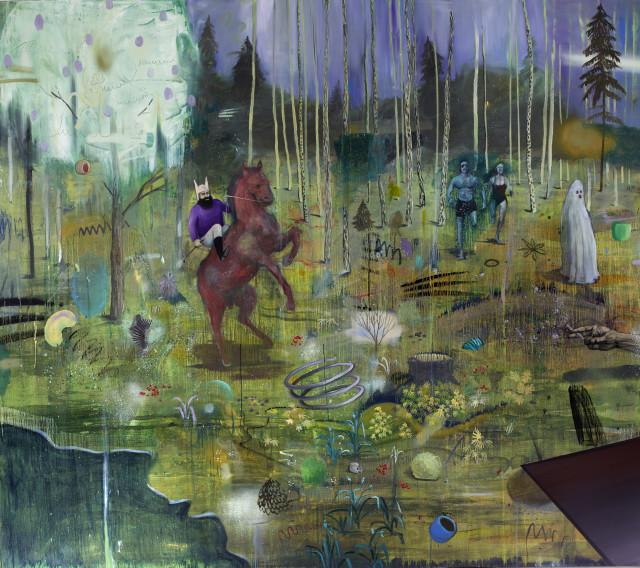 Philip Mueller Caferitter BFSB, 2015 Oil on canvas 200 x 230 cm 79 x 91 in