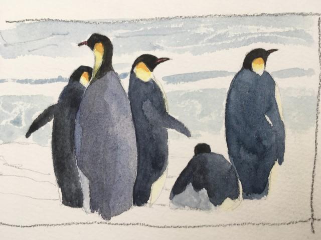 Dafila Scott, Emperor Penguins (Unframed)