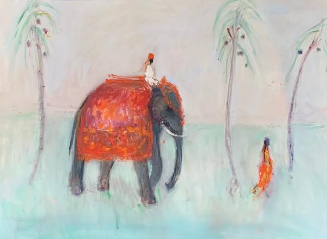 Ann Shrager, Man on an Elephant (London Gallery)