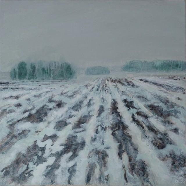 Herman Lohe, Wintery spring in Uppland (Vårvinter i Uppland), 2021