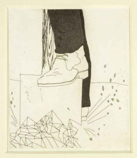David Hockney, Digging up Glass from Illustrations for Six Fairy Tales from the Brothers Grimm, 1969 - 1970