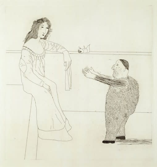 David Hockney, Pleading for the Child from Illustrations for Six Fairy Tales from the Brothers Grimm, 1969