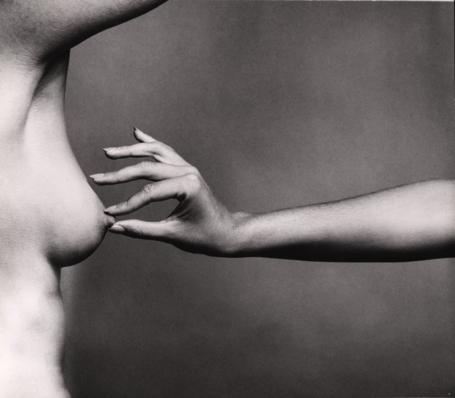 Guy Bourdin, Les Soeurs (Erect Nipple in a Pinch)
