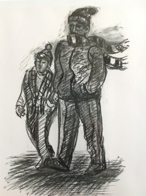 <span class=&#34;artist&#34;><strong>Ed Gray</strong></span>, <span class=&#34;title&#34;><em>Father and Son, Arsenal</em>, 2014</span>