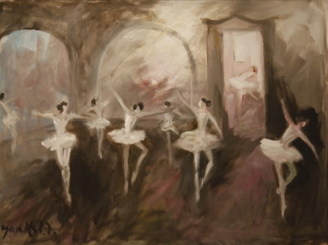 <span class=&#34;artist&#34;><strong>Yankel Feather</strong></span>, <span class=&#34;title&#34;><em>Dancers at Dusk</em></span>
