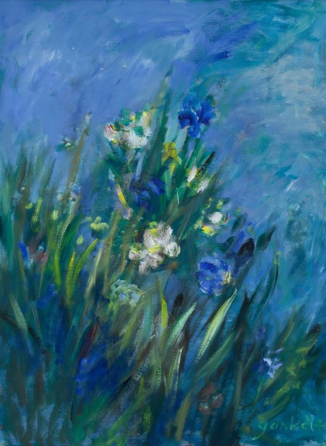 <span class=&#34;artist&#34;><strong>Yankel Feather</strong></span>, <span class=&#34;title&#34;><em>Flowers on a Riverbank</em></span>