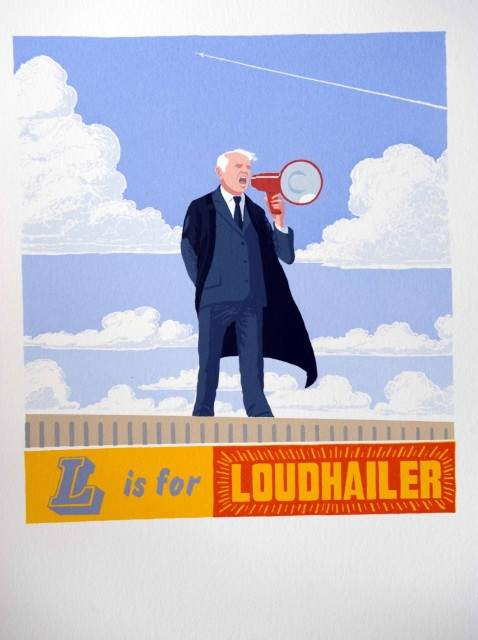<span class=&#34;artist&#34;><strong>Martin Grover</strong></span>, <span class=&#34;title&#34;><em>L is for Loudhailer</em></span>