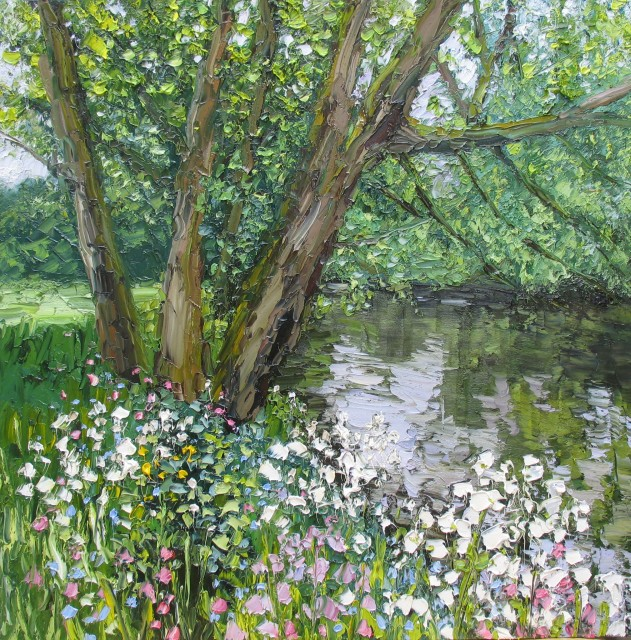 <span class=&#34;artist&#34;><strong>Colin Halliday</strong></span>, <span class=&#34;title&#34;><em>Spring Riverbank</em>, 2014-15</span>