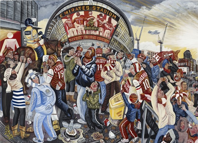 <span class=&#34;artist&#34;><strong>Ed Gray</strong></span>, <span class=&#34;title&#34;><em>Adoration at the Emirates 'Matchday at Arsenal'</em>, 2014</span>