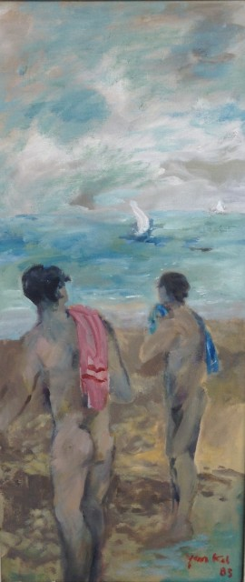 <span class=&#34;artist&#34;><strong>Yankel Feather</strong></span>, <span class=&#34;title&#34;><em>Bathers at Hayk</em></span>