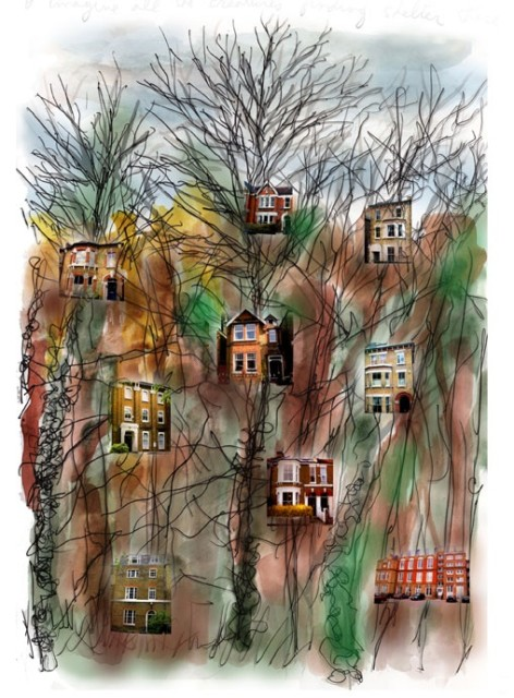 Randy Klein, Inner Cities - Houses, 2014
