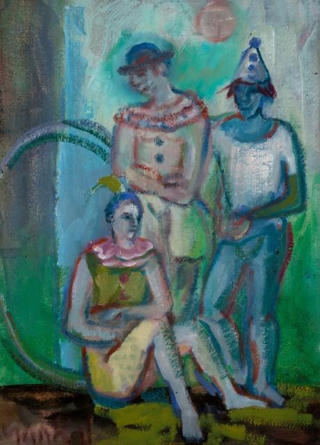 <span class=&#34;artist&#34;><strong>Yankel Feather</strong></span>, <span class=&#34;title&#34;><em>Clowns</em></span>