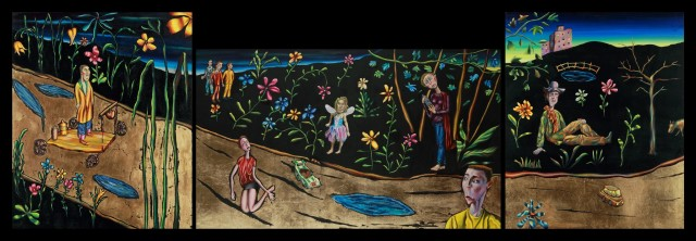 <span class=&#34;artist&#34;><strong>Carlos Cortes</strong></span>, <span class=&#34;title&#34;><em>In The Night Garden (Triptych)</em>, 2012</span>