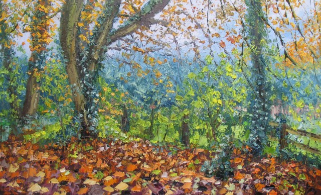 <span class=&#34;artist&#34;><strong>Colin Halliday</strong></span>, <span class=&#34;title&#34;><em>Autumn Woodland</em>, 2013-14</span>