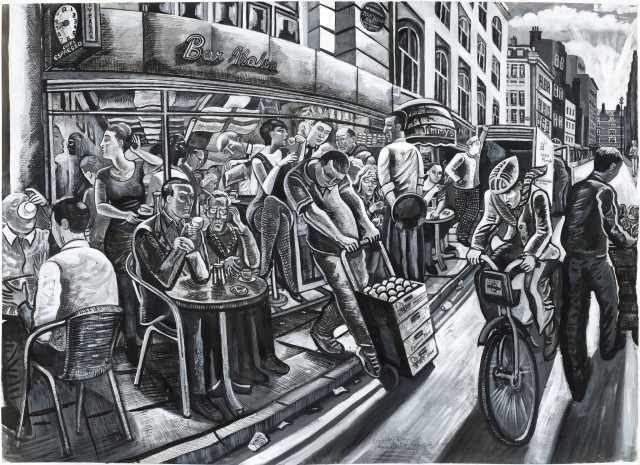 <span class=&#34;artist&#34;><strong>Ed Gray</strong></span>, <span class=&#34;title&#34;><em>Bar Italia, Soho (Monochrome)</em>, 2011</span>