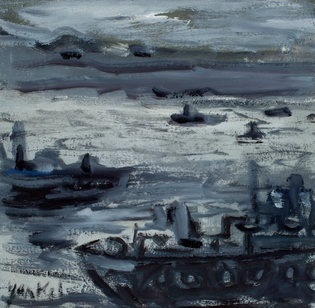 <span class=&#34;artist&#34;><strong>Yankel Feather</strong></span>, <span class=&#34;title&#34;><em>Boats on the Tamar</em></span>