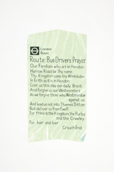<span class=&#34;artist&#34;><strong>Martin Grover</strong></span>, <span class=&#34;title&#34;><em>Bus Driver's Prayer Ticket</em></span>