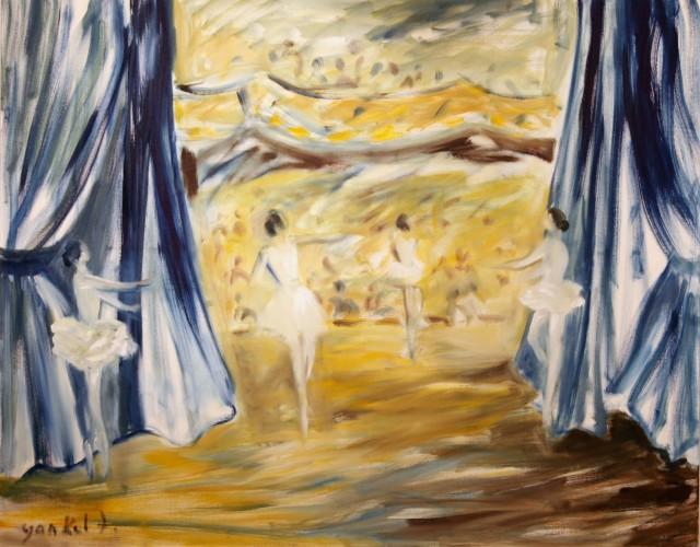 <span class=&#34;artist&#34;><strong>Yankel Feather</strong></span>, <span class=&#34;title&#34;><em>Yellow-Blue Dancers</em></span>