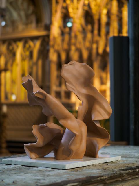 Helaine Blumenfeld Taking Risks, 2016 Terracotta in three parts H: 27cm H: 62cm H: 74cm Base: dark grey marble, 2.9cm h x 70x 50