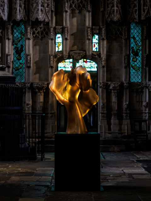 Helaine Blumenfeld  Tree of Life: Encounter, 2018  Bronze, edition of 3  Sculpture: 100cm h x 80 x 65  Weight: 100kg  Base: black bronze, 80cmx 65x 65  Weight: 110kg