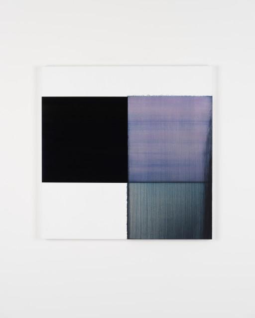 Callum Innes, Exposed Painting Bluish Violet Red Oxide, 2019