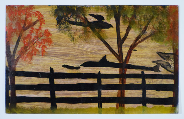 Frank Walter, Fence with Fish and Birds