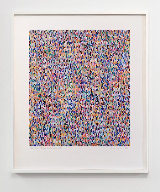 James Hugonin, Binary Rhythm (Dark Red ), 2012