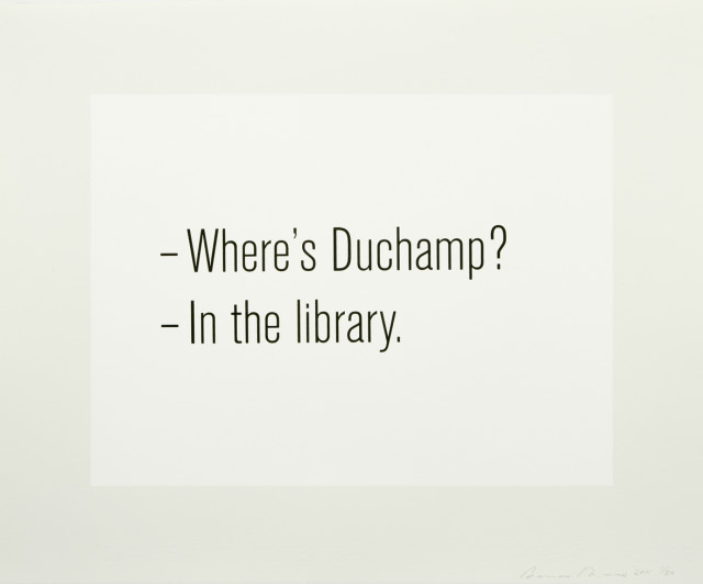 Where's Duchamp?, 2011