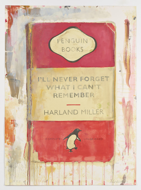 Harland Miller, I'll Never Forget What I Can't Remember, 2018