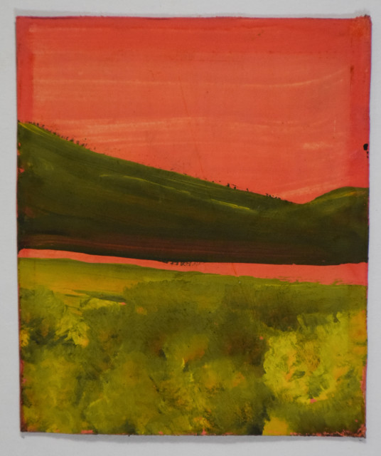 Frank Walter, Landscape Series: Green hill and Pink Sky
