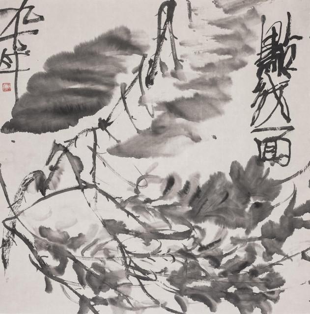 Li Jin 李津, Wild Cursive Series: Point, Line, and Plane 狂草系列:点线面, 1996