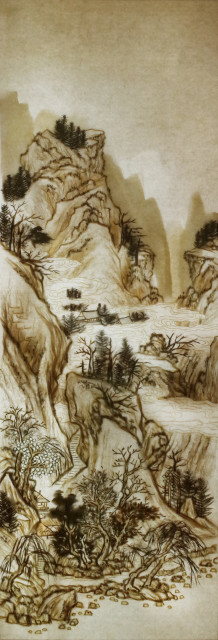 Xu Bing 徐冰, Background Story: Spring Clouds and Layered Mountains 背后的故事:春云叠嶂图, 2019
