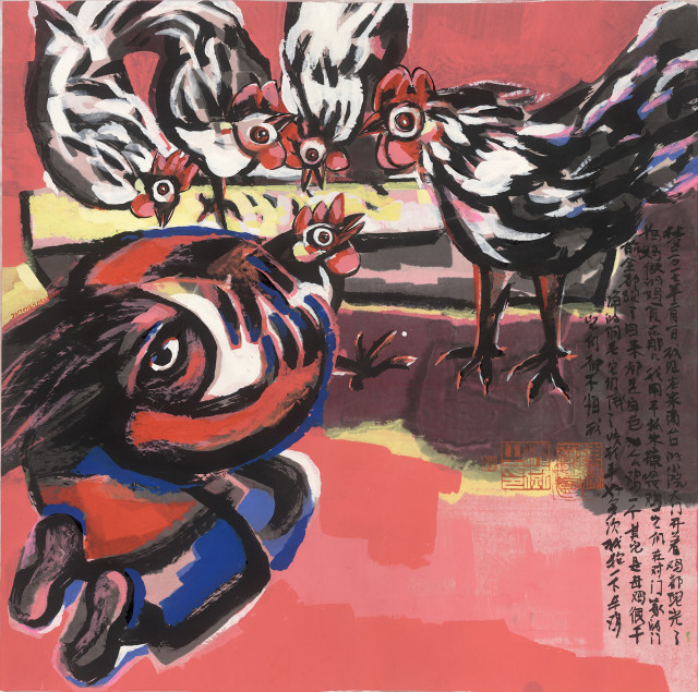 <span class=&#34;artist&#34;><strong>Chen Haiyan &#38472;&#28023;&#29141;</strong></span>, <span class=&#34;title&#34;><em>White Chickens &#30333;&#33394;&#40481;</em>, 2017</span>