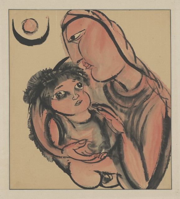 Li Jin 李津, The Tibet Series III: Breastfeeding 西藏组画之三:哺育, 1984