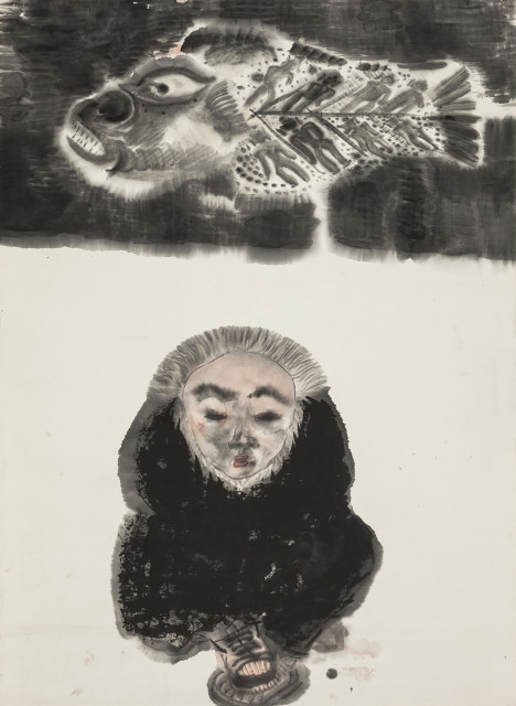 <span class=&#34;artist&#34;><strong>Li Jin &#26446;&#27941;</strong></span>, <span class=&#34;title&#34;><em>Fish and Man &#40060;&#19982;&#20154;</em>, 1993</span>