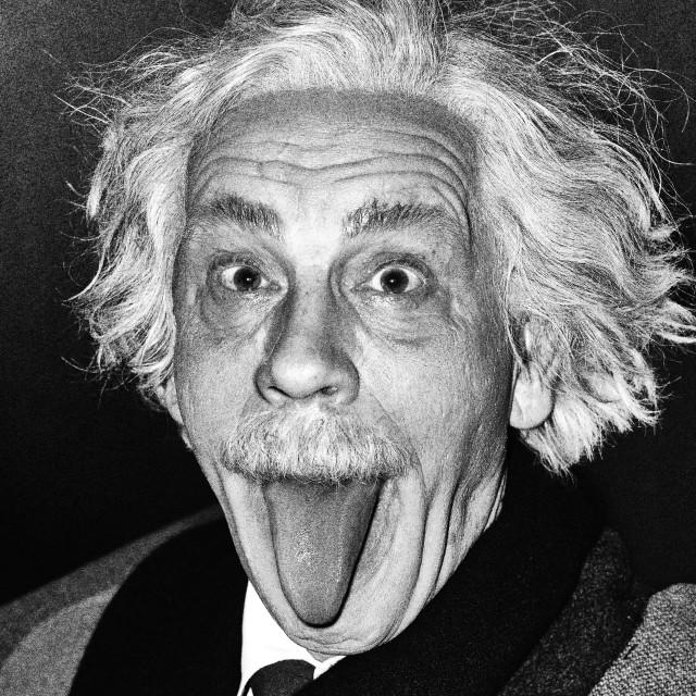 Arthur Sasse / Albert Einstein Sticking Out His Tongue (1951)