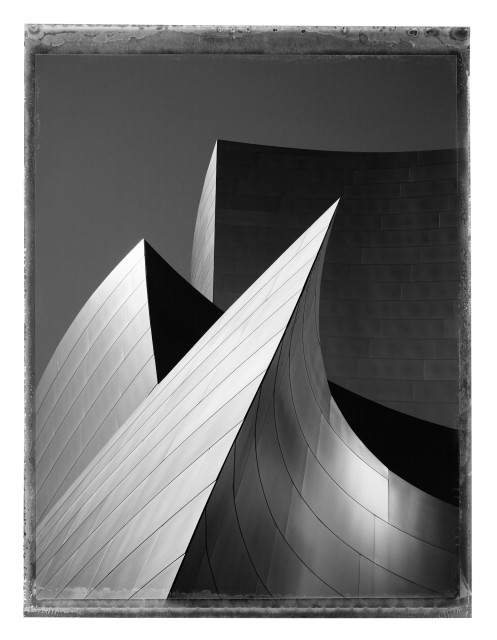 Christopher Thomas  Walt Disney Concert Hall II, Los Angeles, 2017  Pigment print on Aquarelle Arches paper  76 x 56 cm  Edition of 25  135 x 103 cm  Edition of 7  From the series: Lost in L.A.  Signed, titled, dated and numbered in pencil with copyright credit limitation stamp and edition stamp on the verso.  Signed and numbered in pencil on the recto.