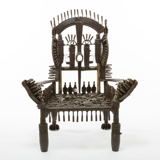 Gonçalo Mabunda, The Throne of the Shining Dream, 2016