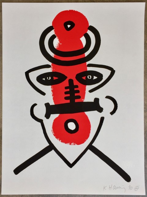 Keith Haring, The Story of Red and Blue (No. 9) *SOLD*, 1989