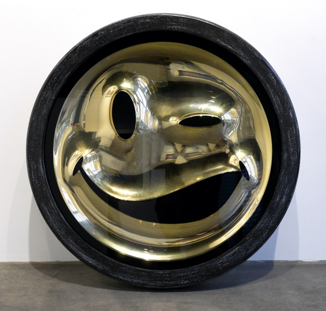 RYCA (Ryan Callanan), EMOJI Series - Wink Gold Chrome Smiley Face , 2013