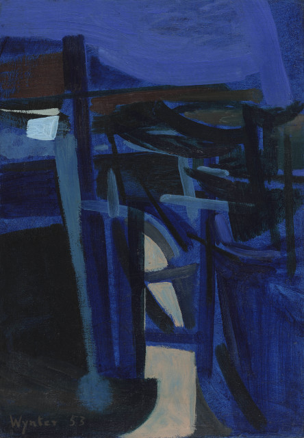 Bryan Wynter, Blue Landscape, 1953
