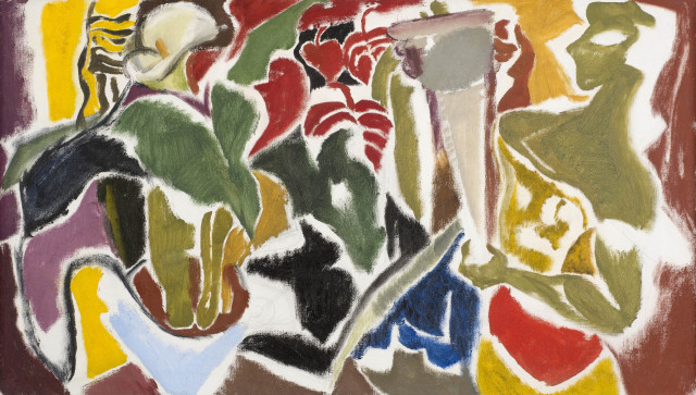 Ivon Hitchens, Figure with Lilies, c.1951