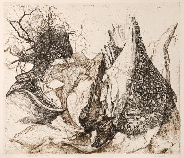 Ian Westacott and Raymond Arnold, Blasted Rogart Oak, 2006/20